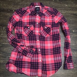 American Eagle Outfitters Plaid Pearl snap Flannel